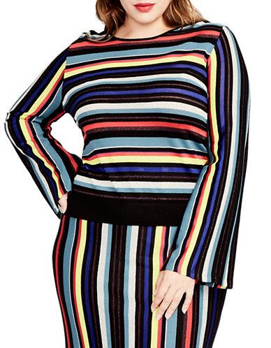 Rachel Rachel Roy Plus Multicolour Stripe Sweater-ASSORTED-2X