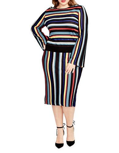 Rachel Rachel Roy Plus Stripe Pencil Skirt-ASSORTED-3X