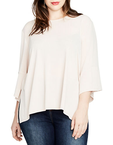Rachel Rachel Roy Plus Bell Sleeve Top-PINK-1X