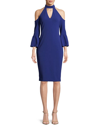 Rachel Rachel Roy Cold-Shoulder Midi Dress-BLUE-0