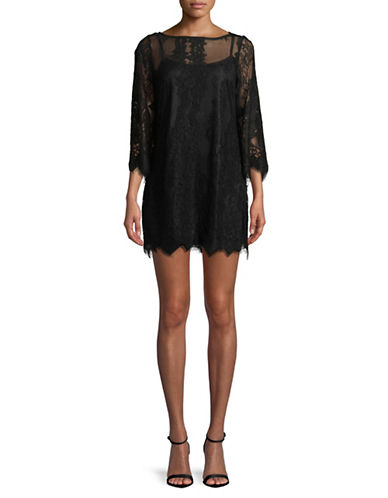 Rachel Rachel Roy Bell-Sleeve Lace Dress-BLACK-12