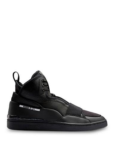 Puma McQ Brace Mid Sneakers-BLACK-7.5