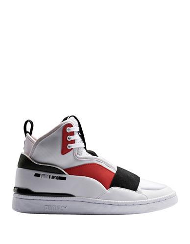 Puma McQ Brace Mid Sneakers-WHITE-7.5