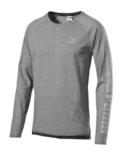 Puma Evo Core Long-Sleeve T-Shirt-GREY-Small 88509426_GREY_Small
