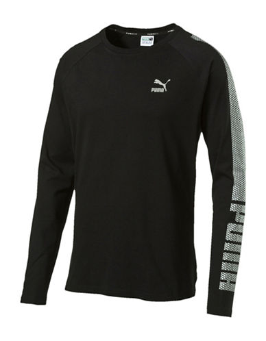 Puma Evo Core Long-Sleeve T-Shirt-BLACK-Medium 88509422_BLACK_Medium