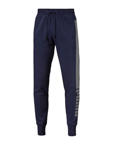 Puma Evo Core Fleece Pants-BLUE-Small