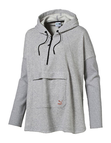 Puma Evo Hooded Cape-GREY-Small 88843690_GREY_Small