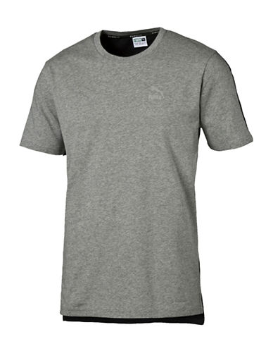 Puma Evo Core T-Shirt-GREY-Large 88744744_GREY_Large