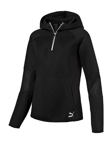 Puma Evo Half-Zip Hoodie-BLACK-Medium 88843696_BLACK_Medium
