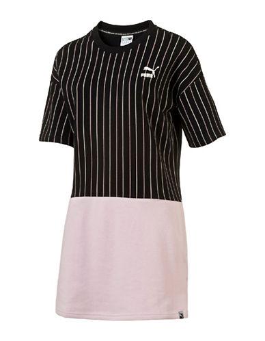Puma Needle Print Dress-BLACK-Small