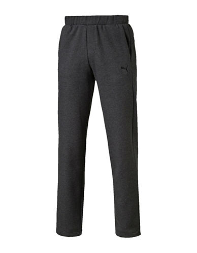 Puma Heathered Sweatpants-GREY-X-Large 89745031_GREY_X-Large