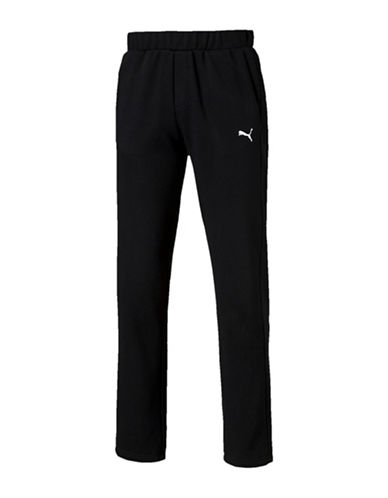 Puma Essential Sweatpants-BLACK-X-Large