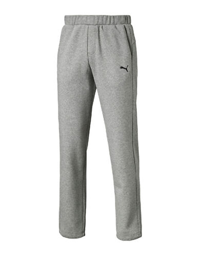 Puma Essential Sweat Pants-GREY-Medium
