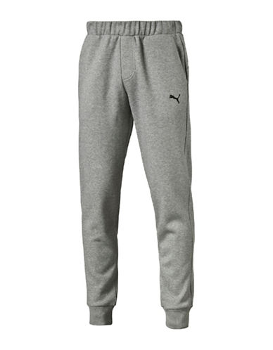 Puma Essential Fleece Sweat Pants-GREY-Large