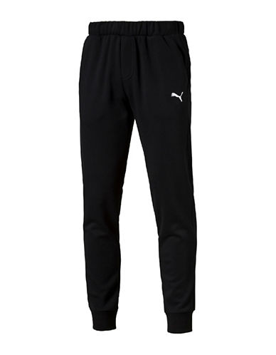 Puma Essential Fleece Sweat Pants-BLACK-X-Large