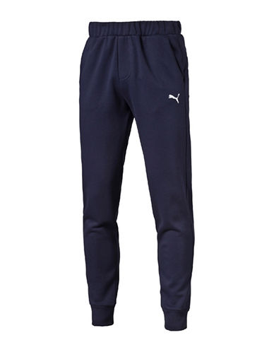 Puma Essential Fleece Sweat Pants-PEACOAT-XX-Large