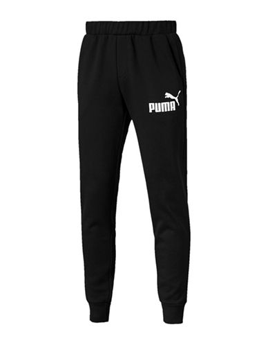 Puma Essential No.1 Graphic Sweatpants-BLACK-X-Large 89983907_BLACK_X-Large