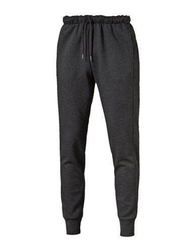 Puma Sweatpants with Emboidery Cat Logo-DARK GREY-Large