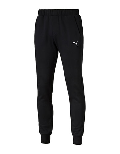 Puma Slim-Fit Fleece Sweatpants-BLACK-Medium 88661564_BLACK_Medium