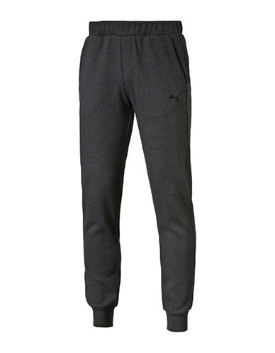 Puma Slim-Fit Fleece Sweatpants-GREY-Large 88661570_GREY_Large