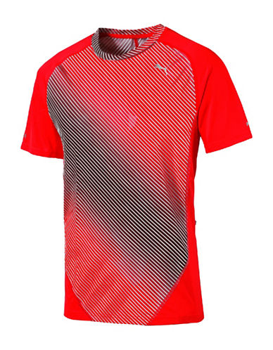 Puma Stripe Graphic T-Shirt-RED-Small 88437894_RED_Small