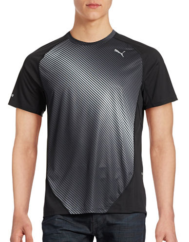 Puma Reflective Graphic dryCELL T-Shirt-BLACK-Medium 88437890_BLACK_Medium