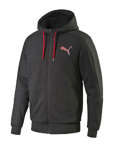 Puma Hero Sherpa-Lined Fleece Hoodie-DARK GREY-X-Large 88781200_DARK GREY_X-Large