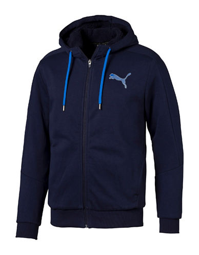 Puma Hero Sherpa Full Zip Hoodie-BLUE-Medium 88661599_BLUE_Medium