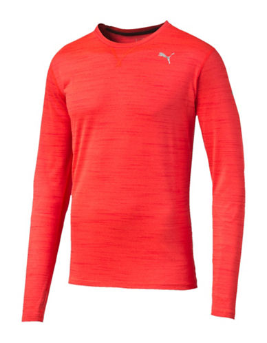 Puma Rebel-Run Long Sleeve Top-RED-Medium 88437900_RED_Medium