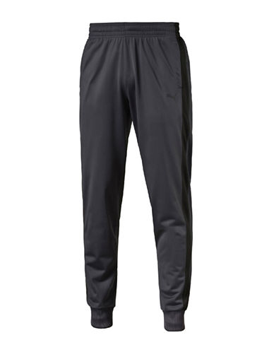 Puma Contrast Paneled Cuffed Pants-GREY-Large 88781229_GREY_Large