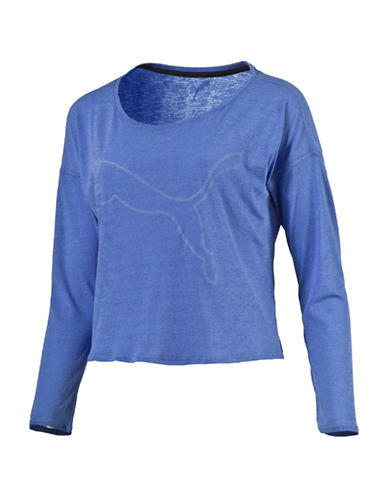 Puma The Good Life Long Sleeve Top-BLUE-X-Large 88843578_BLUE_X-Large