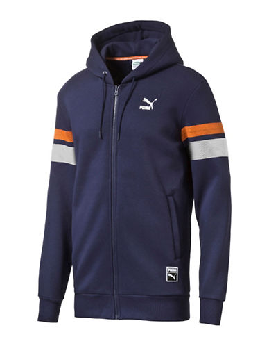 Puma Baseball Full Zip Hoodie-BLUE-Small 88853886_BLUE_Small
