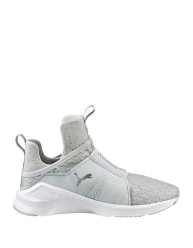 Puma Womens Fierce Engineered Mesh Sneakers-GREY-9