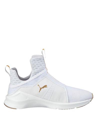 Puma Womens Fierce Gold Sneakers-WHITE-8