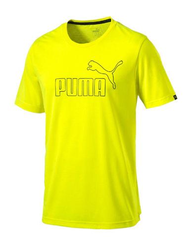 Puma Active No 1 T-Shirt-YELLOW-X-Large 88509464_YELLOW_X-Large