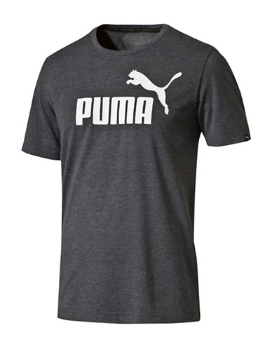 Puma Ess No.1 Heather Tee-BLACK-Large