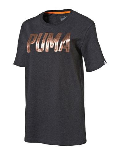 Puma Style Foil Tee-GREY-Medium 88843778_GREY_Medium