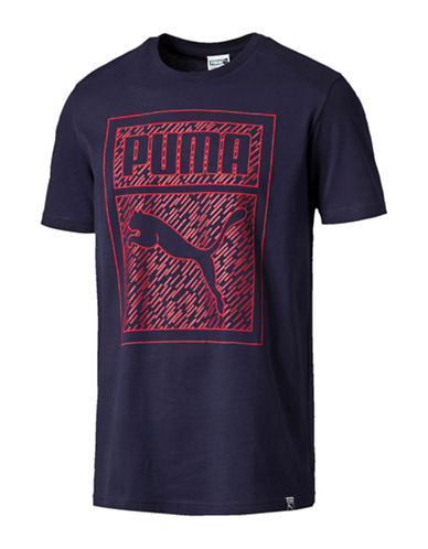 Puma Graphic Print T-Shirt-BLUE-Medium 88437949_BLUE_Medium
