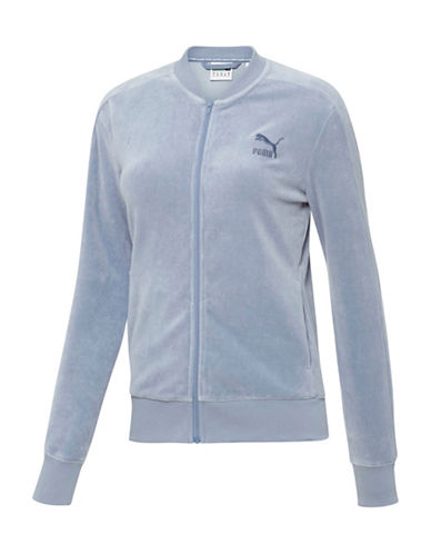 Puma Velour T7 Jacket-BLUE-X-Small 88843743_BLUE_X-Small