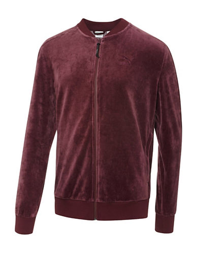 Puma T7 Velour Jacket-RED-X-Large 88853903_RED_X-Large