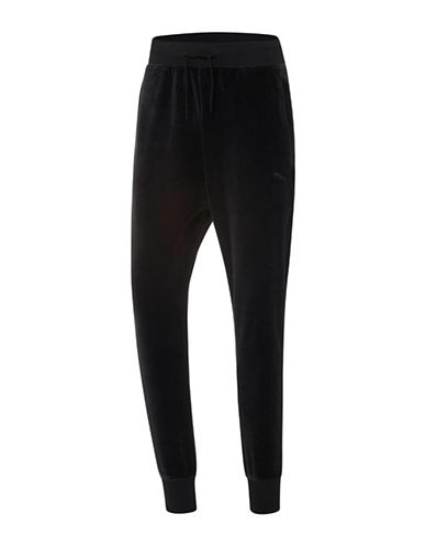 Puma Velour T7 Pants-BLACK-X-Large 88853913_BLACK_X-Large
