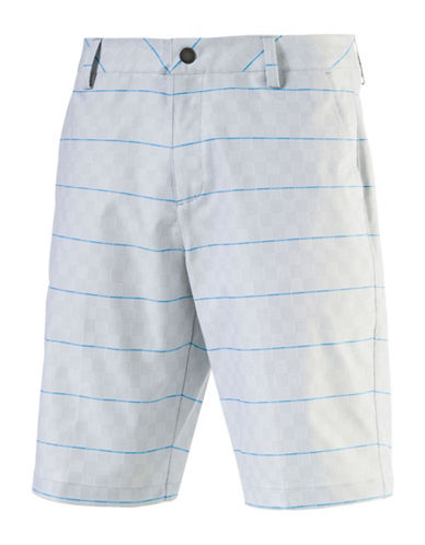 Puma Plaid Patterned Shorts-WHITE-30