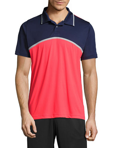 Puma Tailored Colourblock Polo-PINK-Large