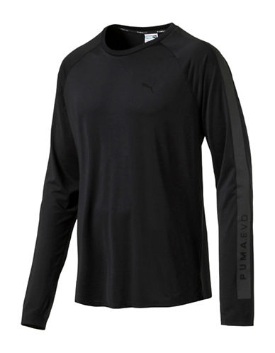 Puma Evo Core Long Sleeve Tee-BLACK-Large 88978084_BLACK_Large
