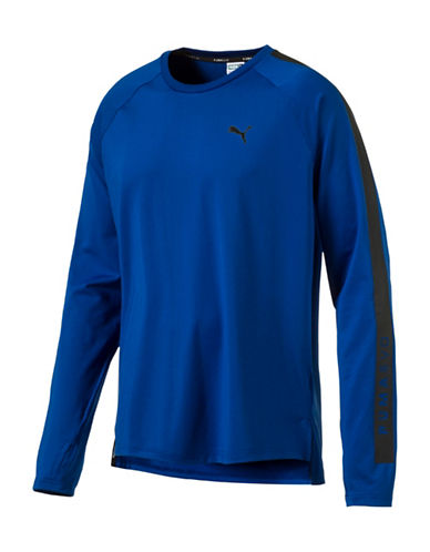 Puma Evo Core Long Sleeve Tee-BLUE-Small 88978087_BLUE_Small