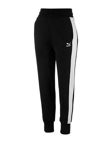 Puma Archive Logo T7 Sweat Pants-COTTON BLACK-Large 89063910_COTTON BLACK_Large