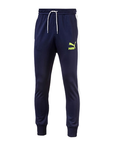 Puma Archive T7 Track Pants-BLUE-Large