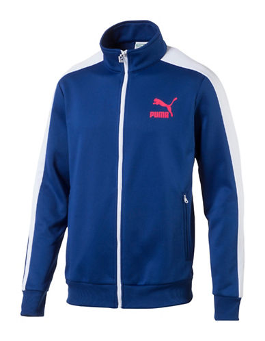 Puma Archive Cotton T7 Track Jacket-MEDIUM BLUE-X-Large