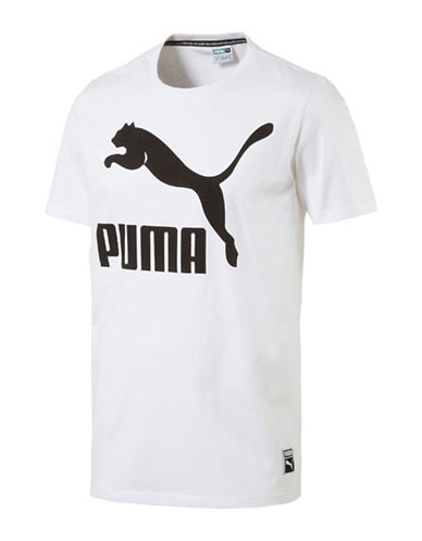 Puma Archive Logo Tee-WHITE-Medium