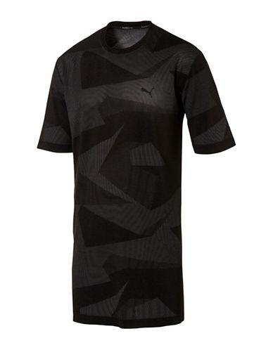 Puma Evoknit Image Regular Fit Tee-BLACK-Large 88978104_BLACK_Large